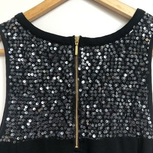 Banana Republic Tops - Banana Republic Sequin Black Gold Zipper Tank